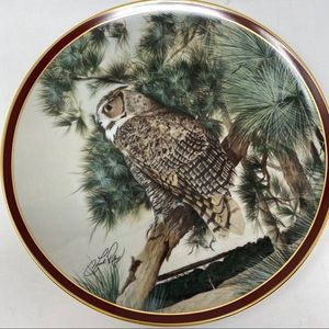 Hamilton Collection Birds Great Horned Owl Plate